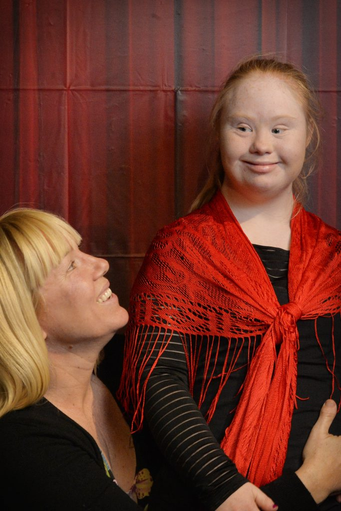 Rosanne Stuart with daughter Madeline who has performed with S-Troupe for the past three years. Photo Inga Williams / The Queensland Times