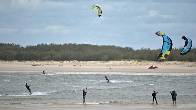 Wave of the day at Caloundra May 17, 2015 Warren Lynam / Sunshine Coast Daily
