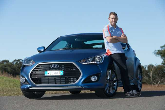 Chris Atkinson with his 2015 Hyundai Veloster SR Turbo.