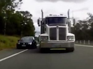 VIDEO: Near miss on highway at Helidon Spa