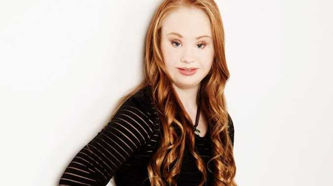 AFTER: 18-year-old Mount Crosby local Madeline Stuart lives with Down syndrome and is taking the world by storm by launching her modelling career.