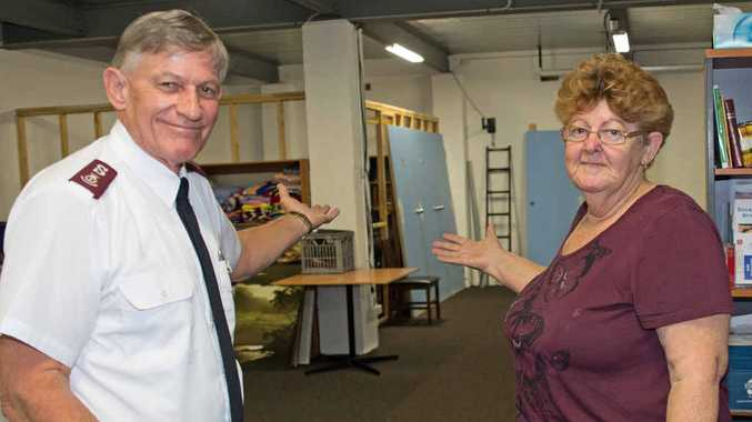 WELCOME: The Salvation Army's Major Steve Metcher and Di Walters at the recently opened Salvation Army Connect Centre. Gemima Harvey