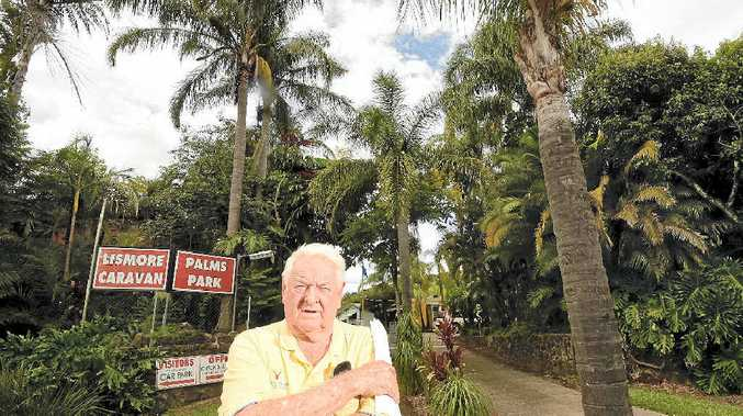 NO OFFERS: Lismore Palms Caravan Park owner Geoff Smith will have to close the park down if he cannot find a buyer.