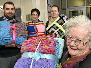 Offenders knit blankets for the needy in the Darling Downs