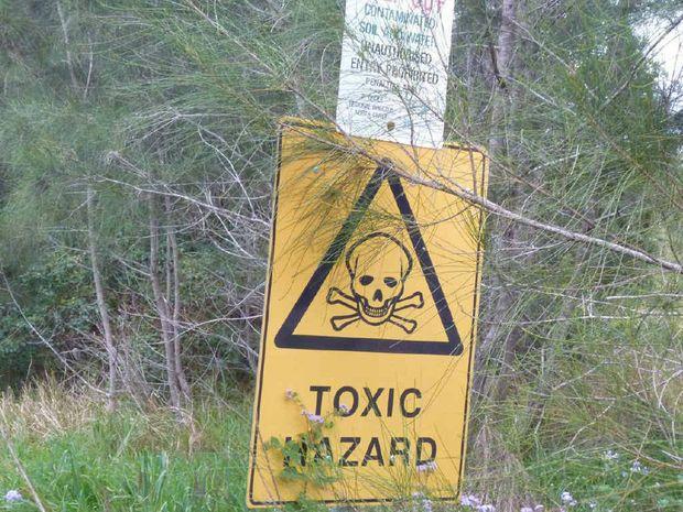 Contaminated land at Urunga
