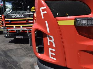 Crews leave scene of fire in Parkhurst