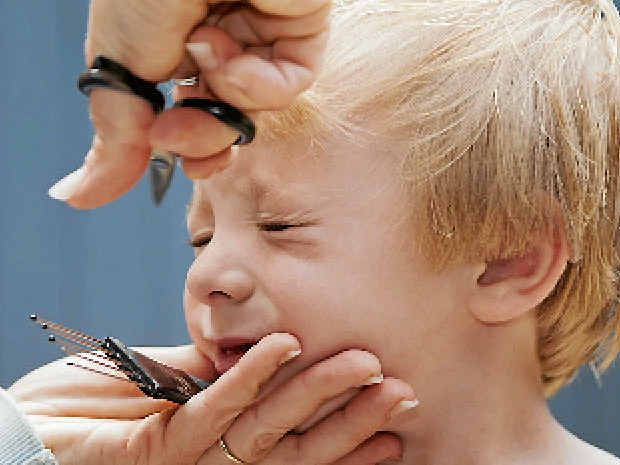 HORRIBLE: Getting his haircut was not only traumatic for my son, but for my husband and I as well.