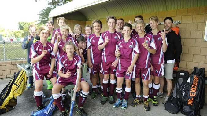 Grafton1 won the Hockey NSW under 15 boys field state championship final against Orange on Sunday at Grafton. Photo Debrah Novak / The Daily Examiner