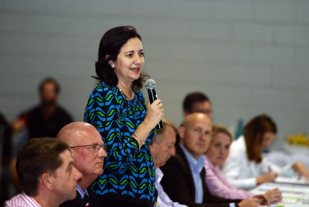 Premier Annastacia Palaszczuk at the Community Cabinet held in Rockhampton on Sunday.