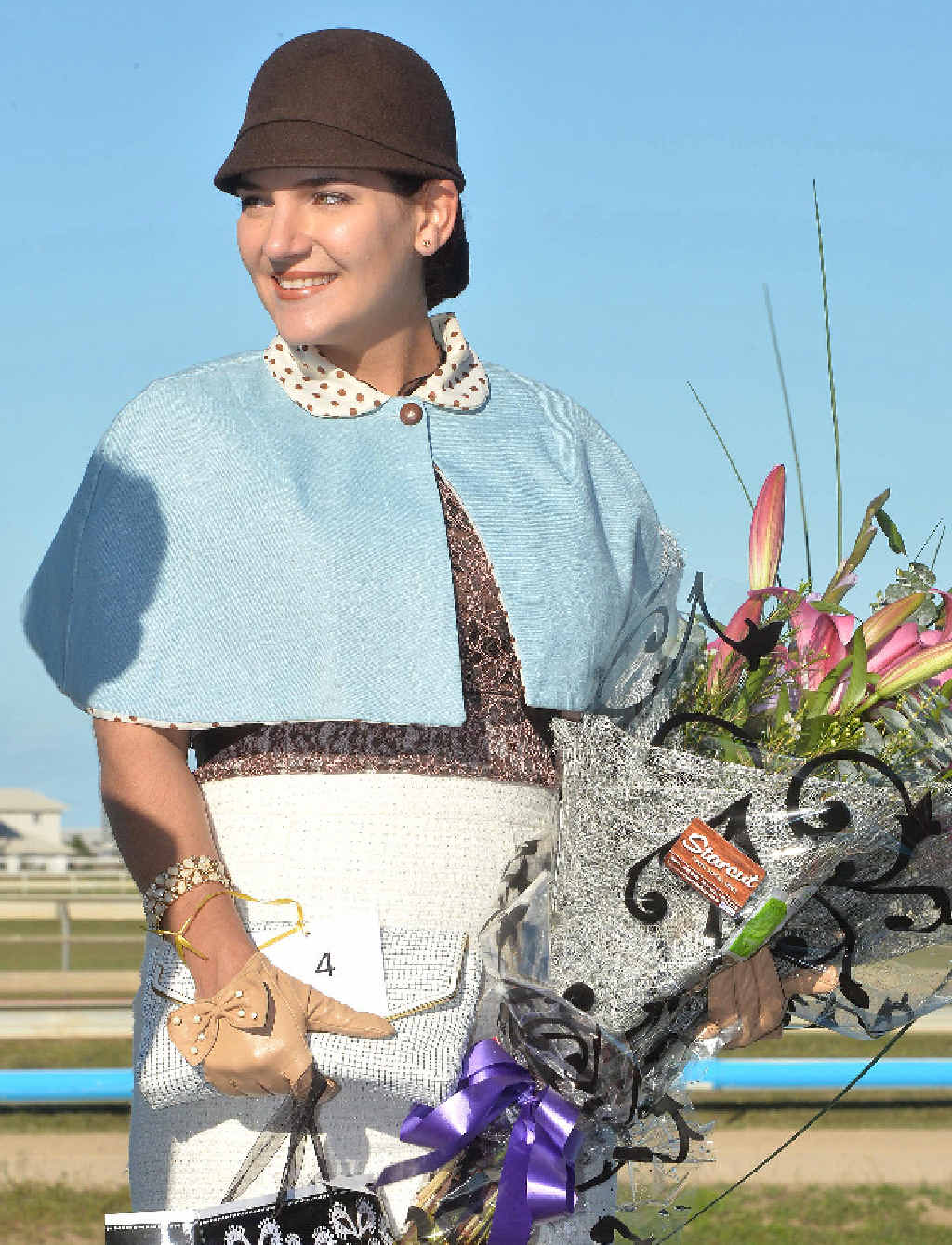 STYLISH: Winner of Fashions of the field Amanda Barry at the Mackay Amateurs race day.