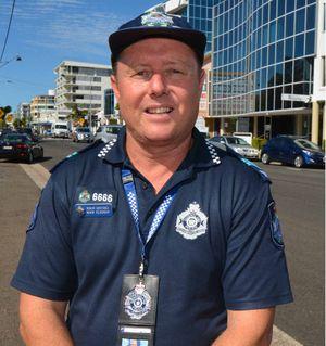 GATHERING EVIDENCE: Sen Const Mark Readman says CCTV makes the community feel safer.