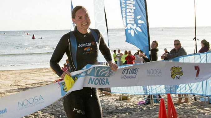 ONE FOR THE STALWART: Two-time Olympian Melissa Gorman takes out the 3.8km Swim Noosa yesterday.