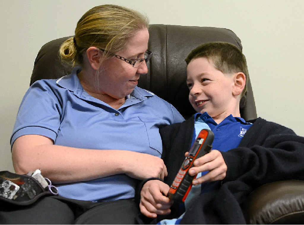 SPECIAL BOY: Alicia Gallen is thankful for the live-saving 000 calls son Alex has made for her.