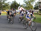 They are off and racing in the annual Maclean Rotary Tour De Woodford at Brushgrove on Sunday morning. Photo Debrah Novak / The Daily Examiner