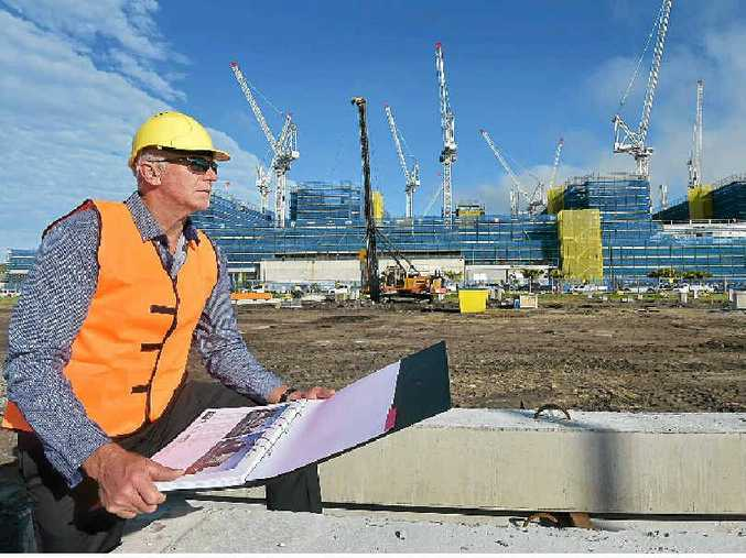ON THE JOB: RGD Constructions has been landing plenty of big local jobs, particularly around the new hospitals at Kawana. Pictured at the site of the new multi-level carpark for the Sunshine Coast University Public Hospital is RGD managing director Ron Grabbe.