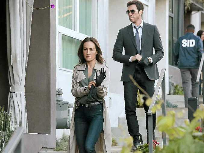 HOLLOW SHOW: Maggie Q and Dylan McDermott star in Nine's new crime series Stalker.