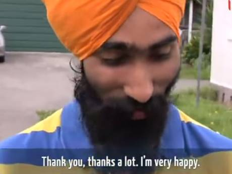 Harman Singh receives an unexpected gift from a NZ television station.