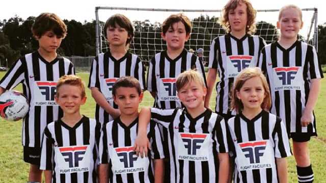 The Byron Bay U8 Panthers soccer team has been sponsored by electronica outfit Flight Facilities.