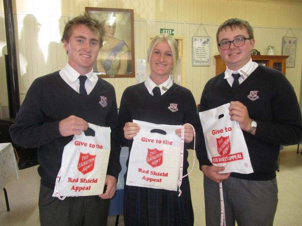 A host of State High students were collectors for the Red Shield Appeal. Photo Contributed