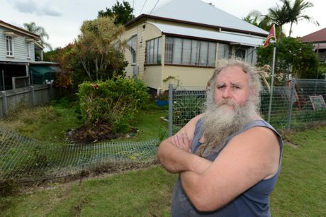 Challinor St resident John Francis was inside his home on Challinor St when he heard a loud bang about 11am Tuesday.