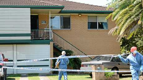 Police at the scene of the Cooinda St, Eastern Heights house where Shaune Gibson was murdered in 2012.