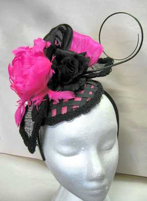 HEAD DRESS: An example of Janita McCloy's work to ensure local ladies look stylish.