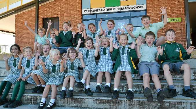 GOING OFF: Students from St Joseph's Primary School, Woodburn, are overcome with anticipation for the fair and fireworks night, after 15 years without explosions.