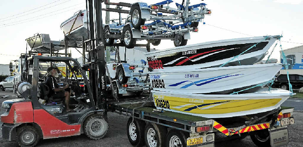 SNAG A PRIZE: The remainder of the boat prizes for the 2015 Boyne Tannum HookUp have arrived, ready for the big event on June 5–7.