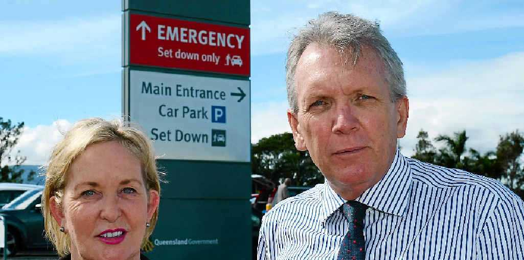 CQ TOUR: Member for Caloundra Ros Bates and Shadow Minister for Health Mark McArdle visit the Rockhampton Hospital.