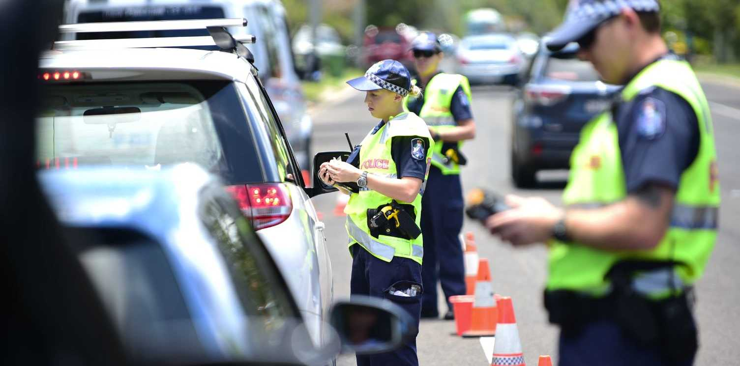 Police test drivers at Amarina Ave, Mooloolaba