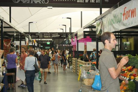 Market day at the $20million refurbishment of Big Top Market Fresh at Maroochydore Photo: Erle Levey / Sunshine Coast Daily