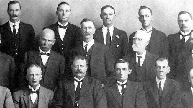 LONG HISTORY: The Bundaberg Agricultural, Pastoral and Industrial Society committee in 1922, the year the show moved to Burrum St.