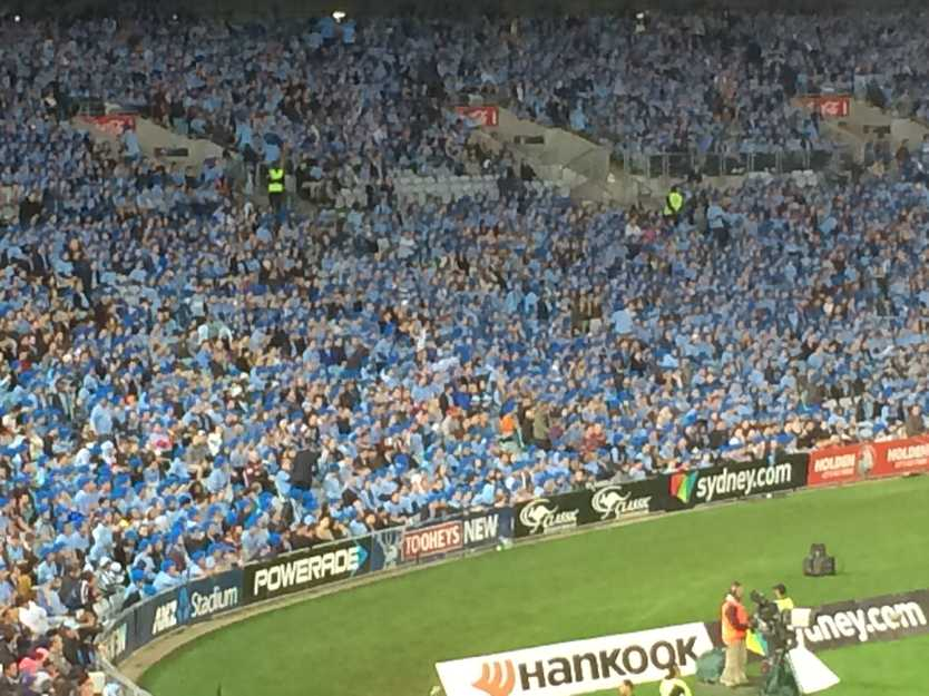 A sea of blue at ANZ Stadium
