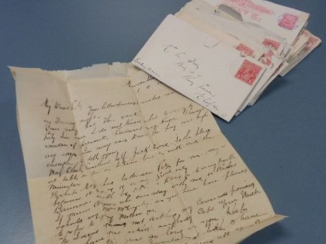 Police found these love letters after several break and enters in the region.