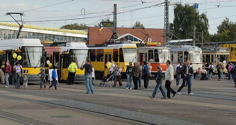 An example of German trams in Berlin.