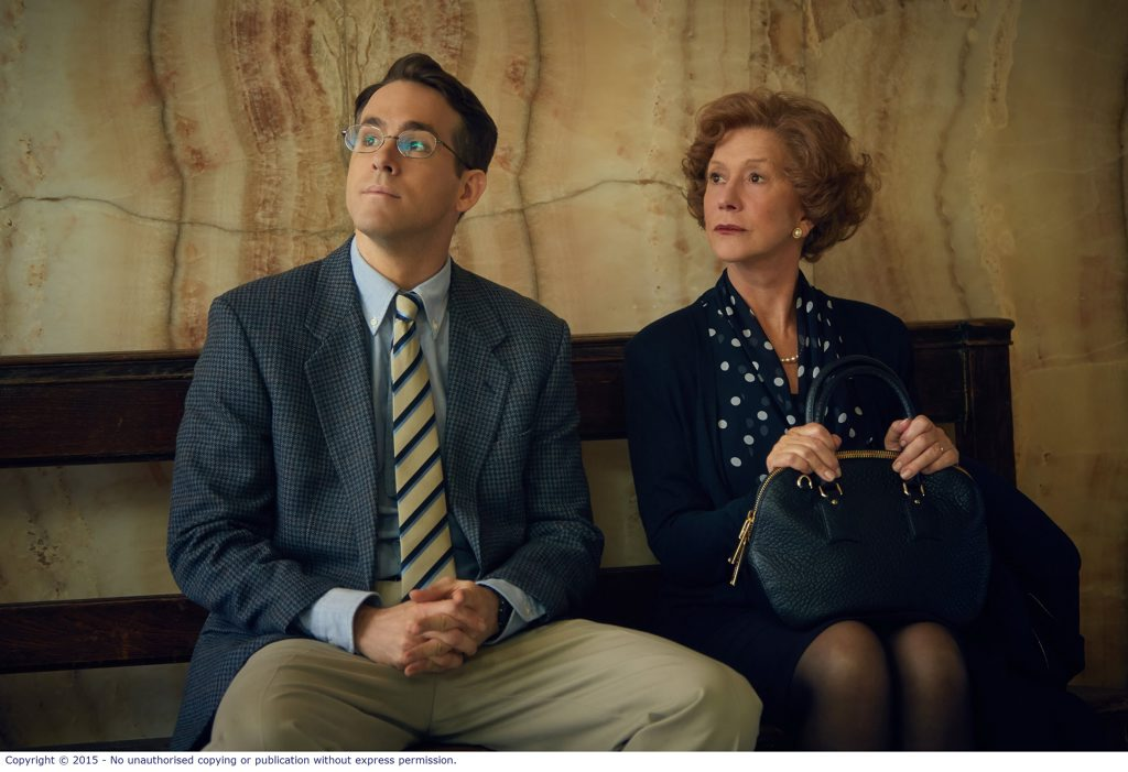 UNUSUAL PAIRING: Ryan Reynolds and Helen Mirren in a scene from the movie Woman in Gold.