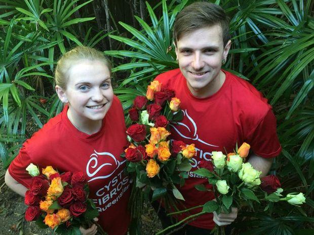 Cystic Fibrosis Queensland Volunteers - Abbie Green & Hayden Shortt.