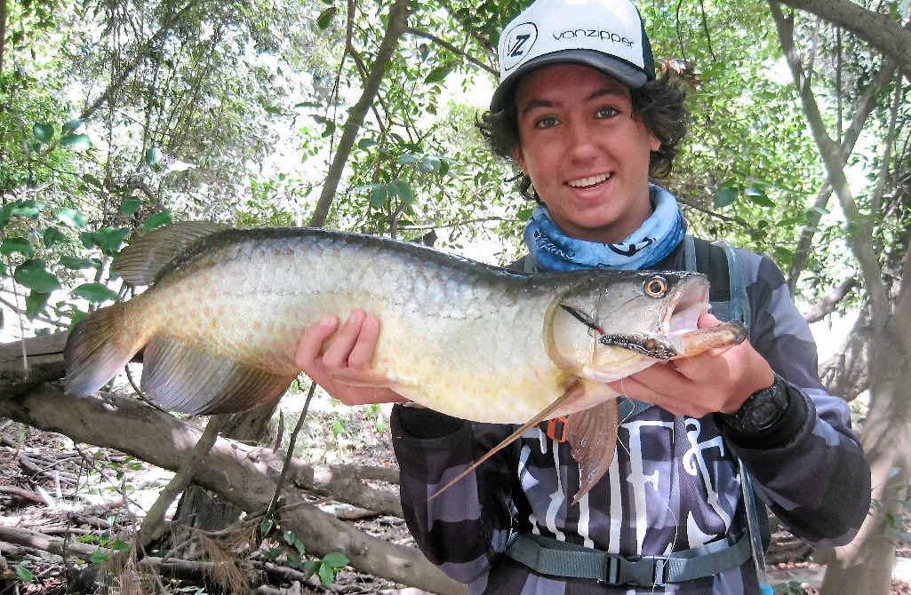 Sean Galea caught this good-sized saratoga this month.