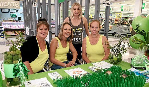 BITING BACK: Nikki Brown, Jess Rowe, Beki Seekamp and Peita Rolling held a Lyme disease stall at Whitsunday Plaza.