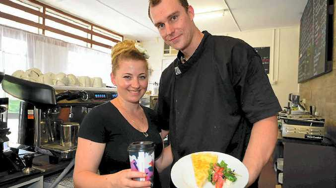 SUPPORTIVE RESPONSE: Cheese and Biscuits owners Jessica-Anne and Steve Allen want mums to feel welcome at their Frenchville cafe.