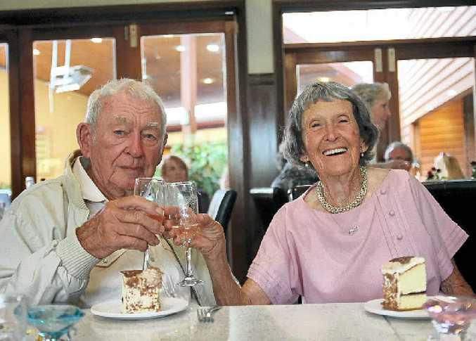 THE HAPPY COUPLE: Colin and Mona Mitchell at Yandina Hotel.