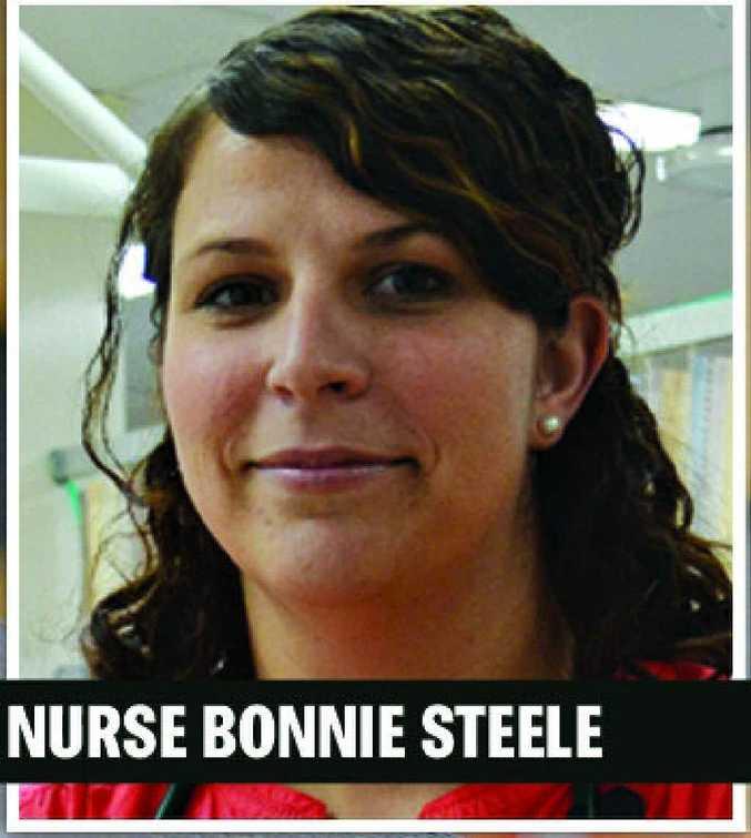 Warwick Hospital emergency department nurse practitioner, Bonnie Steele.