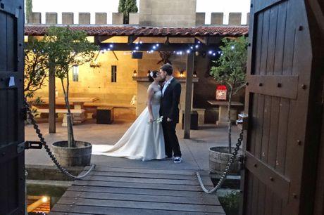Tiffanie Hope Murnain and Rikki Jordan Palmer both from Nambour married May 4 at Maroochy Botanic Gardens before a bit of photo shoot fun at the 7D cinemas at Mooloolaba and Bli Bli Castle.  Photo: Kyleigh Fritz