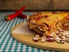 Chicken enchilada cake