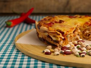 Chicken enchilada cake
