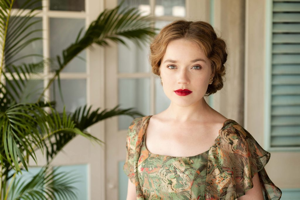 Jemima West in a scene from Indian Summers.
