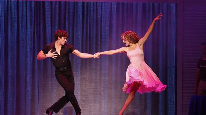 Kurt Phelan and Kirby Burgess in a scene from Dirty Dancing -The Classic Story on Stage.