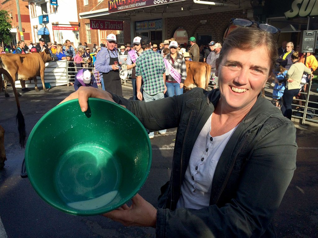 Debbie Frederickson, of Kingaroy in Queensland, at the Casino Beef Week milking competition.