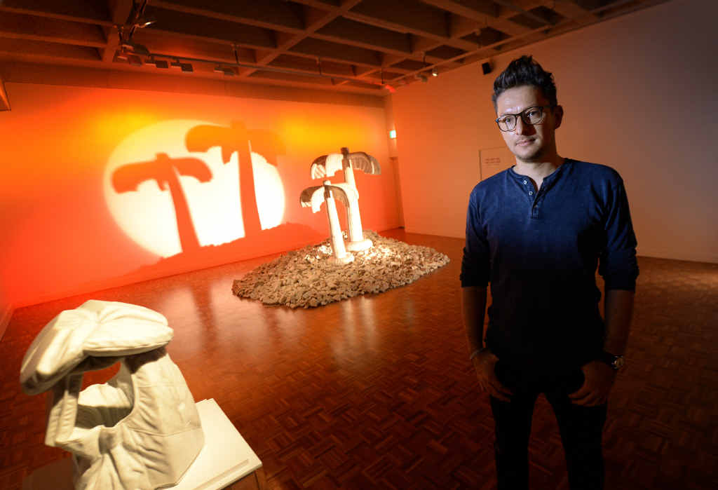 SOLID IDEA: Artist Alex Seton at the Rockhampton Art Gallery which is showing his Last Resort exhibition.