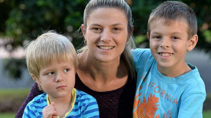 FAMILY TOGETHERNESS: Lachlan Herbert with mum Christy and big brother Cooper.
